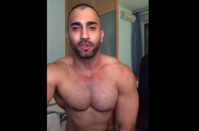 Musculoso na web cam